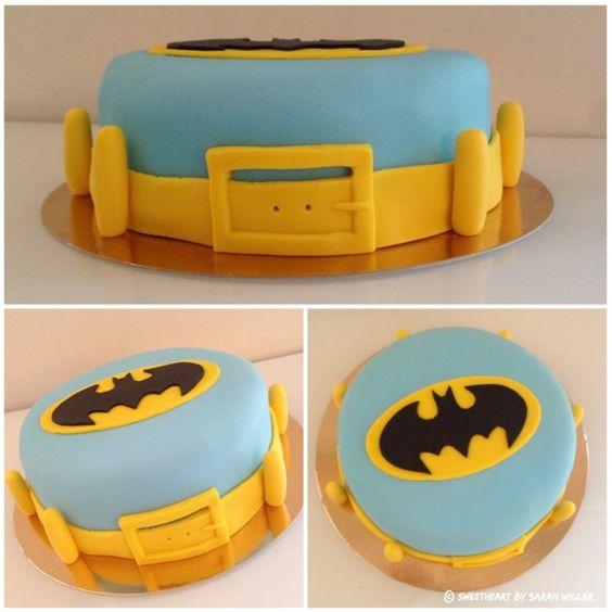 Batman Pâte à sucre birthday cake design