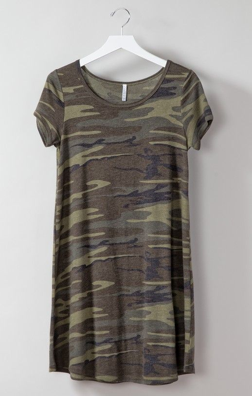 The Connor Camo Dress will be your most complimented closet staple. This soft dress is made in camo print and is easy and comfortable to wear.