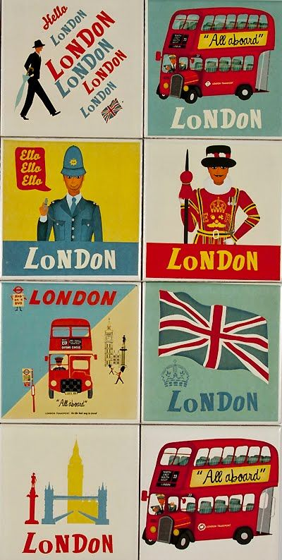 All sorts of awesome London vintage-ness. #posters #London #vintage #UK #Britain #England #Diamond #Jubilee
