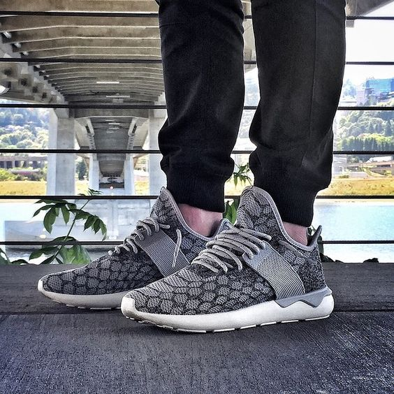adidas originals tubular runner primeknit gray shoes