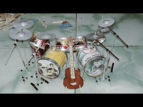 Membuat Miniatur Drum Set Dari Kaleng Bekas Youtube Maquetismo