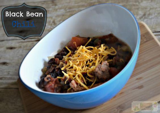Slow Cooker Black Bean Chili #KraftFreshTake