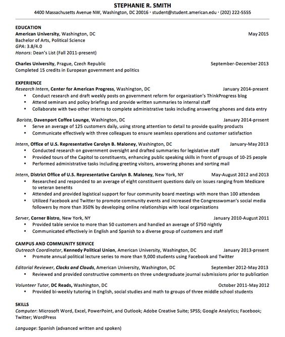 Resume Sample for Upperclassmen - http\/\/resumesdesign\/resume - resume reviewer