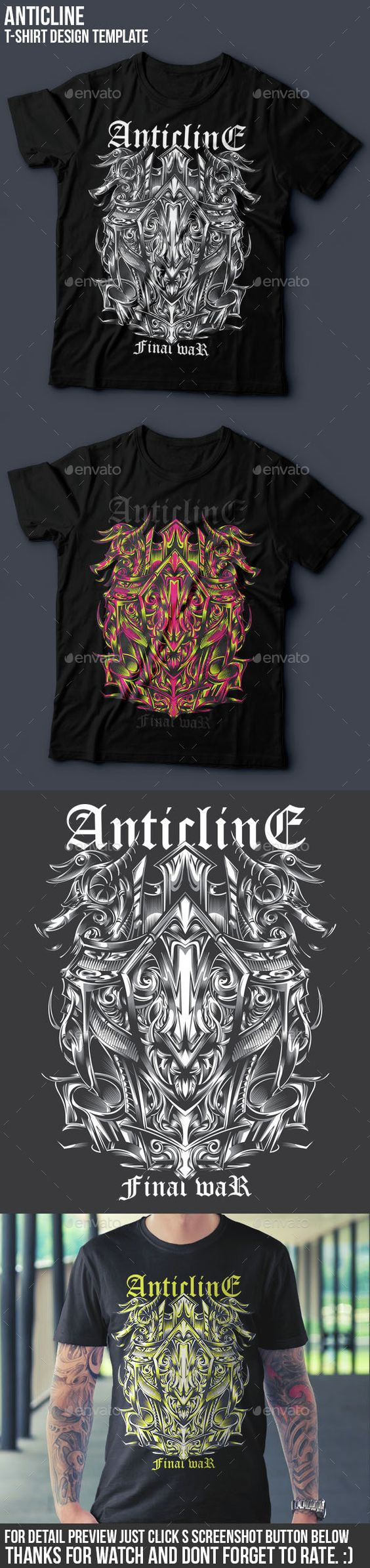 Shirt design resolution - Buy Anticline T Shirt Design Template By Badsyxn On Graphicriver Vector Resizable Easy To Edit And Change Color File Included Ai Eps Jpg Png And Read