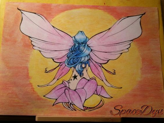#coloriage #spacedyn #fée
