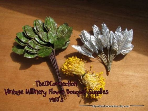 Vintage Floral 1960's Millinery Flower Supplies by TheIDconnection, $15.00