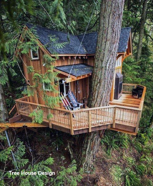 Best Tree House Designs In 2020 Beautiful Tree Houses Tree House Designs Tree House