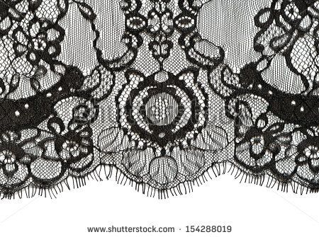 Black lace edge on white background by Ortis, via Shutterstock