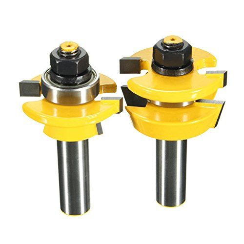 Hitommy 2pcs 1 2 Inch Shank T Type Shaker Bevel Rail And Stile Router Bit Set Want Additional Info Click On The Image Router Bits Router Bit Set Router