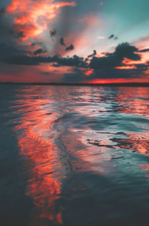 Water Reflection : water, reflection, Coastal, Photo, Sunset, Reflected, Water, Reflection, Beautiful, Clouds…, Nature, Photography,, Landscapes,, Landscape, Photography