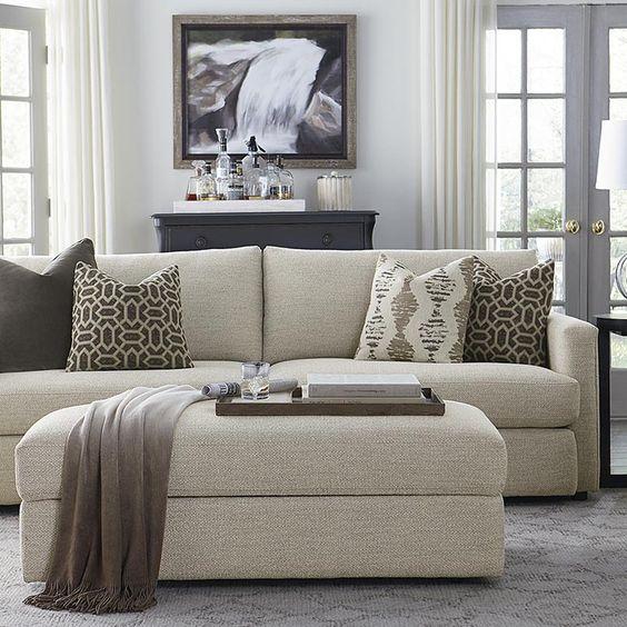 Allure sofa by bassett bassett custom living pinterest ottomans and sofas for Bassett living room u shaped sectional