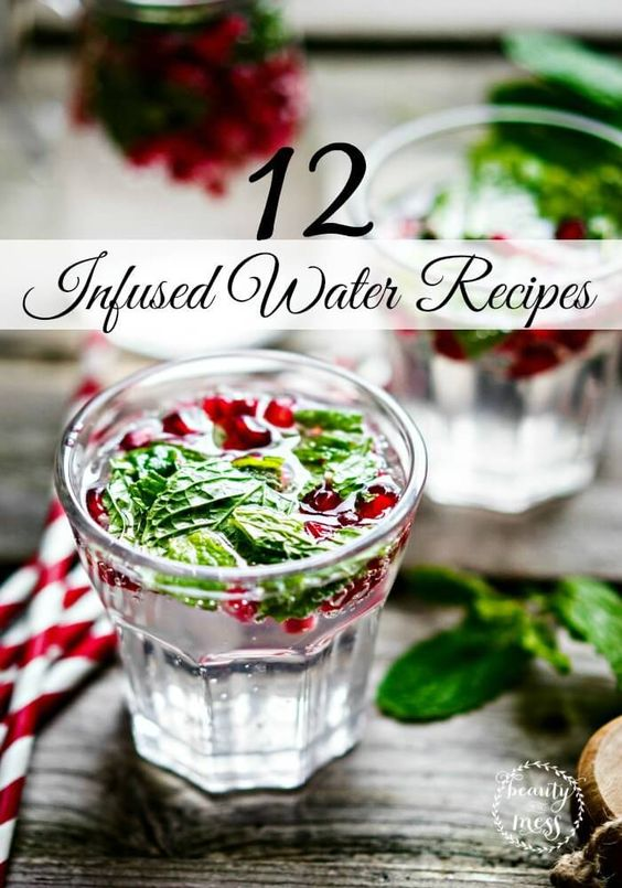 12 Infused Water Recipes. Water doesn't have to be boring. Check out these great fruit combos that will transform your health and make drinking water enjoyable.
