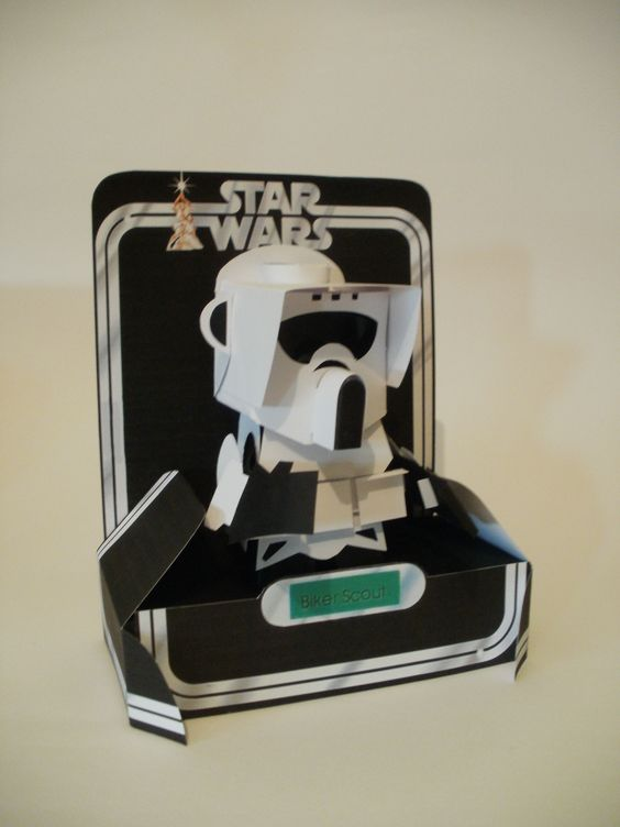 Star Wars papercraft art by Ryan Hall. (No templates.) More characters at the link.