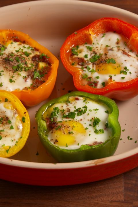 Egg Stuffed Bell Pepper Egg In A Hole Recipe Recipe Stuffed Peppers Eggs In Peppers Healthy Brunch