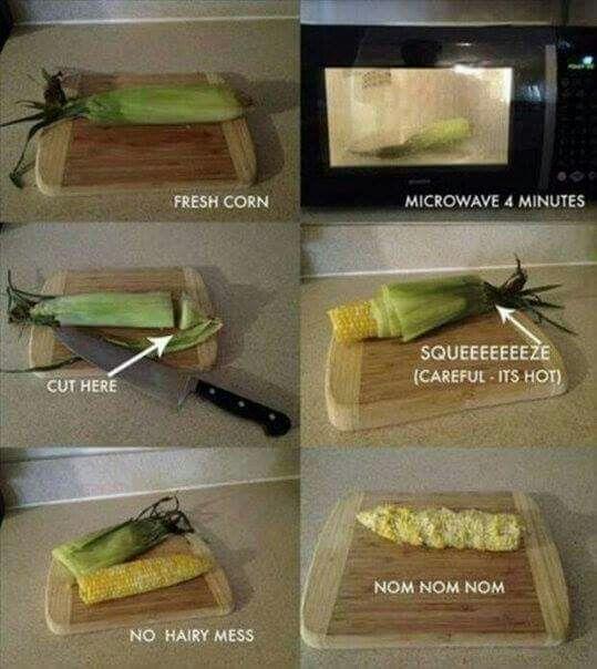 Shuck corn