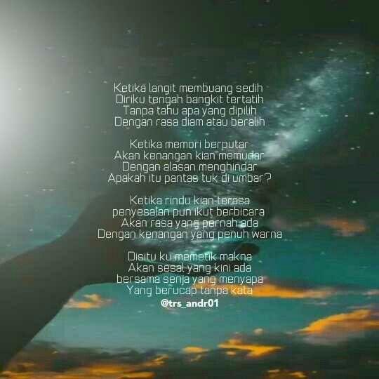 Puisi Hujan Puisi Kutipan Puisi Kutipan Dalam