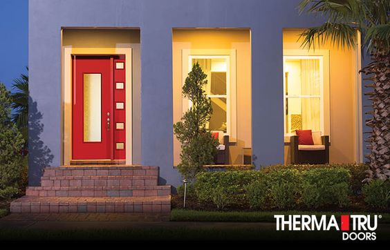 Privacy glass fiberglass entry doors and products on for Therma tru pulse