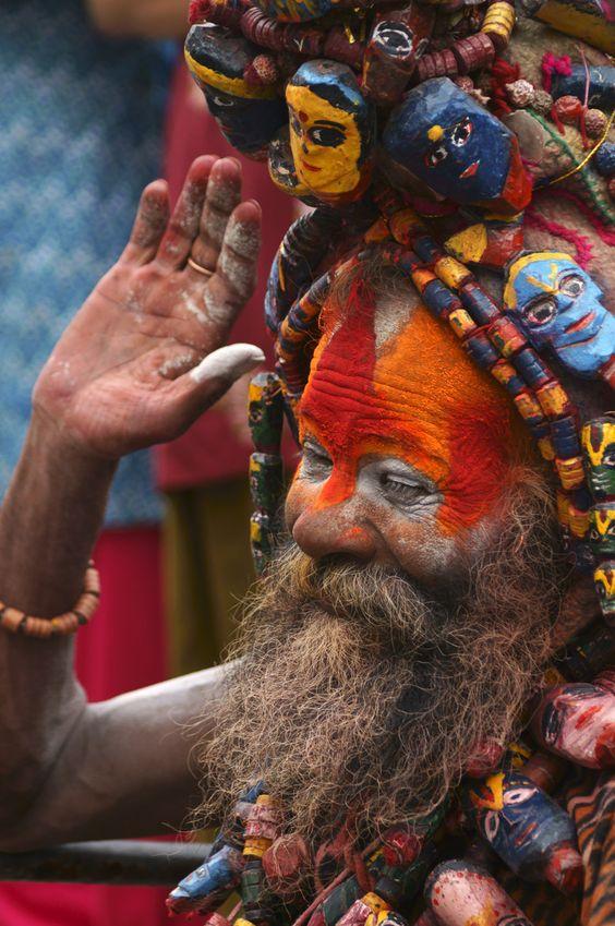Colorful Sadhu! via Sandra Angelozzi