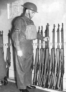 """""""Parashot"""", a new war word in World War II England. A parashot was simply somebody standing guard in a field or somewhere all night, with a weapon such as a shotgun, waiting for a parachutist to come down."""
