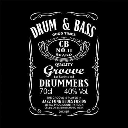 Camiseta Drum & Bass - Clube do Baterista   Loja