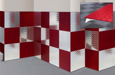 Guptapermold Diamond Plate Aluminum Maxtile Garage Wall