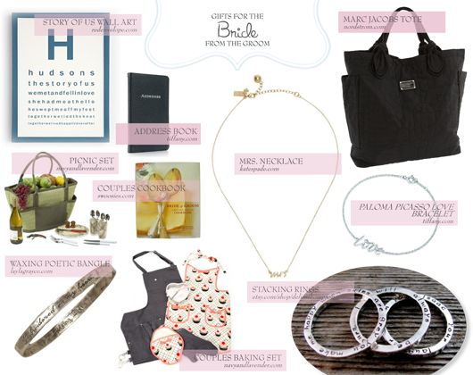 Brides: if any of these gift ideas seem like something you like, share this like with your husband-to-be to help point him in the right direction…