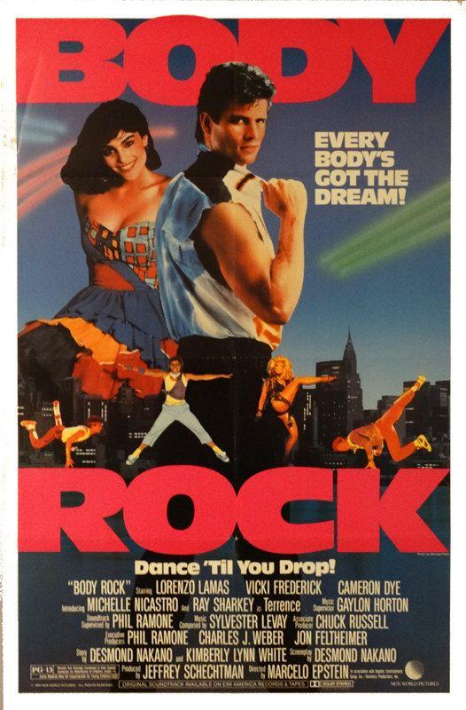 Body Rock Original 1984 Us 27 X41 Theater Movie Poster Free