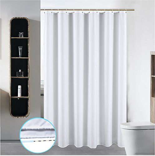54 X 78 Washable Fabric Shower Curtain Liner Bathroom Wat