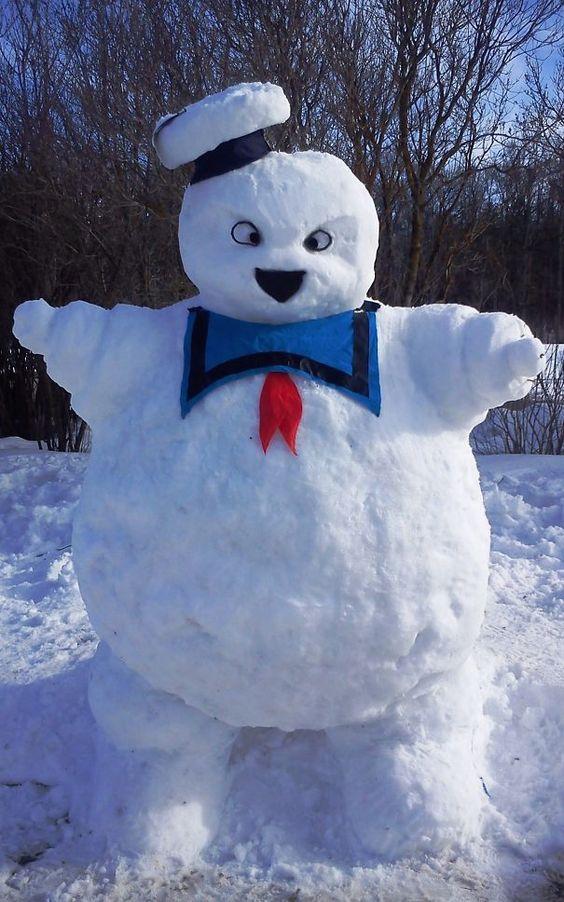 ghost buster snow sculpture #snowSculpture #snow #winter #sculpture #movie