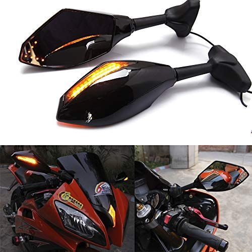 Motorcycle Led Turn Signal Side Mirrors For Yamaha Yzf600 Yzf R6 Fzr600 Honda Cbr600 Yamaha Yzf R Honda Cbr250r Motorcycle Model