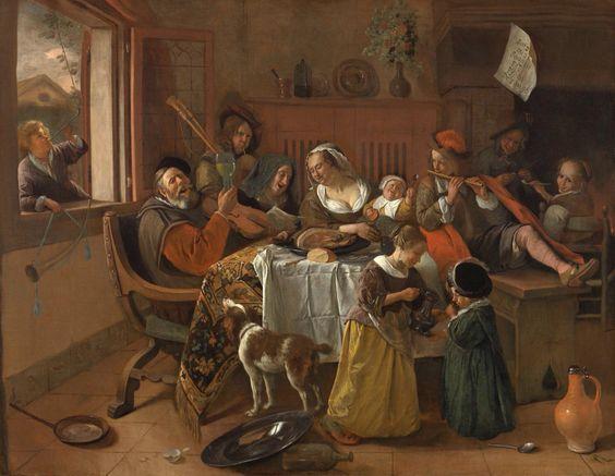 Het vrolijke huisgezin. Jan Steen