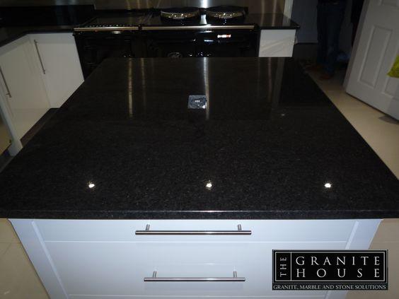 #GraniteIsland #GraniteKitchen #BlackPearlGranite - www.thegranitehouse.co.uk/granite-colours.html