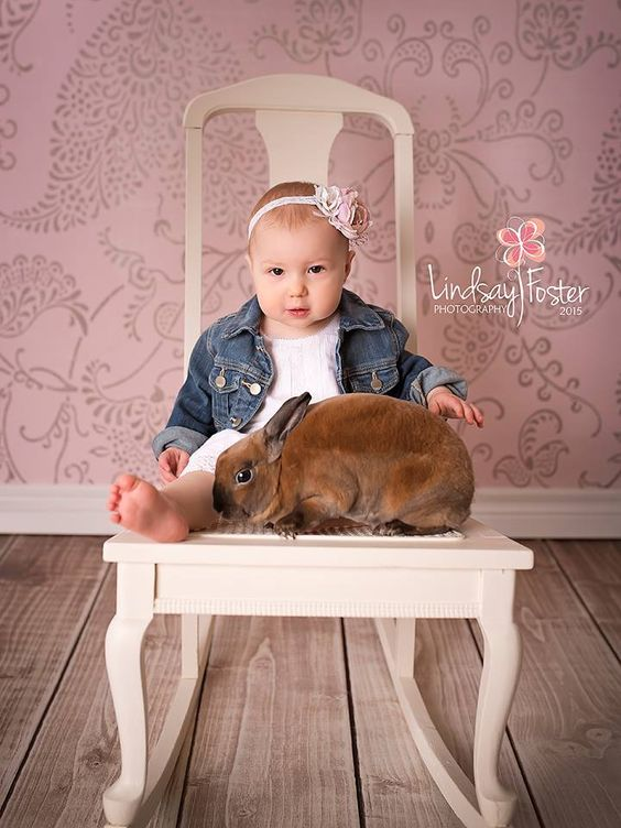 Sweet Deliah and Rusty The Bunny  www.lfosterphotography.com