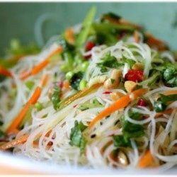 Sesame Rice Noodle Salad-It's like the inside of a Thai wrap! #AARPHealth