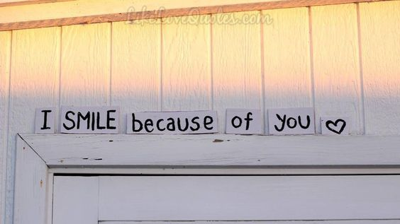 I smile because of you..