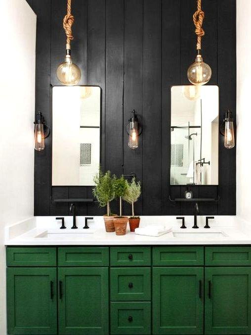 Daring Black Accent Wall Concepts Black Accent Walls Modern Bathroom Tile Bathroom Design Styles