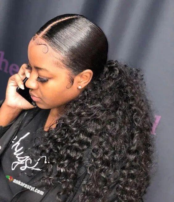 39 Best Black Ponytail Hairstyles 2020 For Black Ladies Black Ponytail Hairstyles Hair Ponytail Styles Birthday Hairstyles