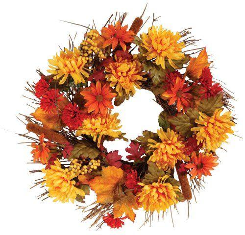 "Miles Kimball 18"" Mum Wreath Miles Kimball http://www.amazon.com/dp/B012ITRFU8/ref=cm_sw_r_pi_dp_W7mcwb1D5KNJS"