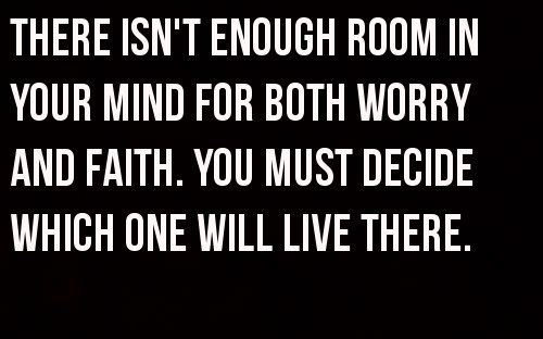 worry and faith
