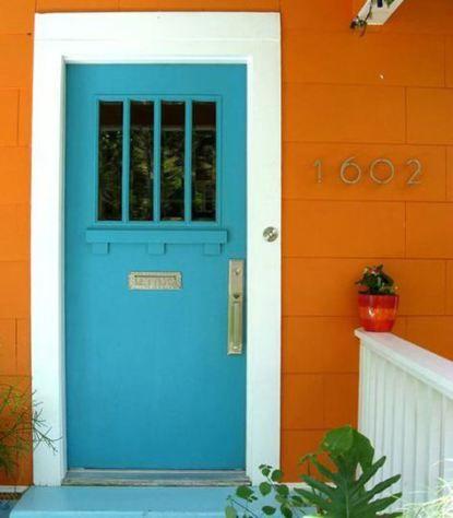 casa fachada tinta a cal azul - Pesquisa Google