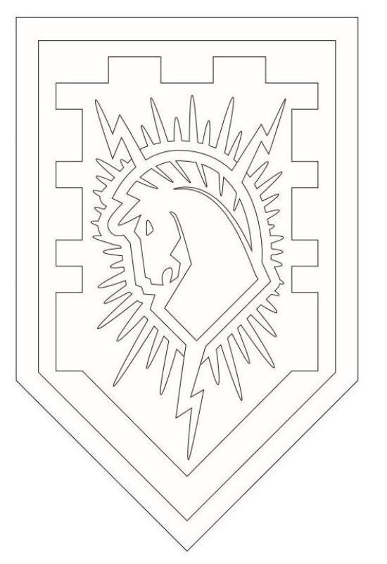 Coloring page Lego Nexo Knights shields 6 on Kids n Funcouk On