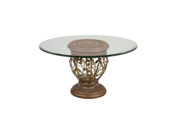 Shop for Drexel Heritage Venezia Dining Table Pedestal, 587-695E, and other Dining Room Dining Tables at Drexel Heritage Furniture Ind Inc in High Point, NC. Diameter at top of pedestal: 21.5 in. Diameter at bottom of pedestal: 21.75 in.