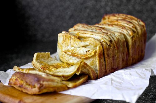 cheddar, beer and mustard pull-apart bread. Definitely need to try this