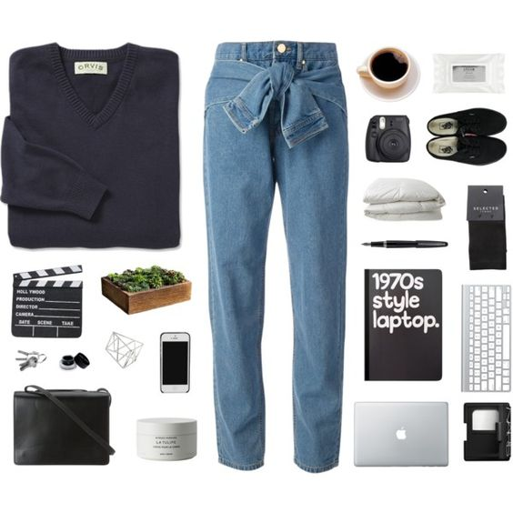 A fashion look from September 2015 featuring DKNY jeans, SELECTED socks and Vans sneakers. Browse and shop related looks.