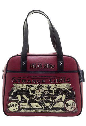 Sourpuss Strange Girls Bowler Bag