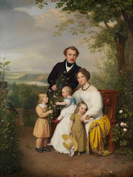 August von der Embde, Portrait of Family von Dithfurth, 1829