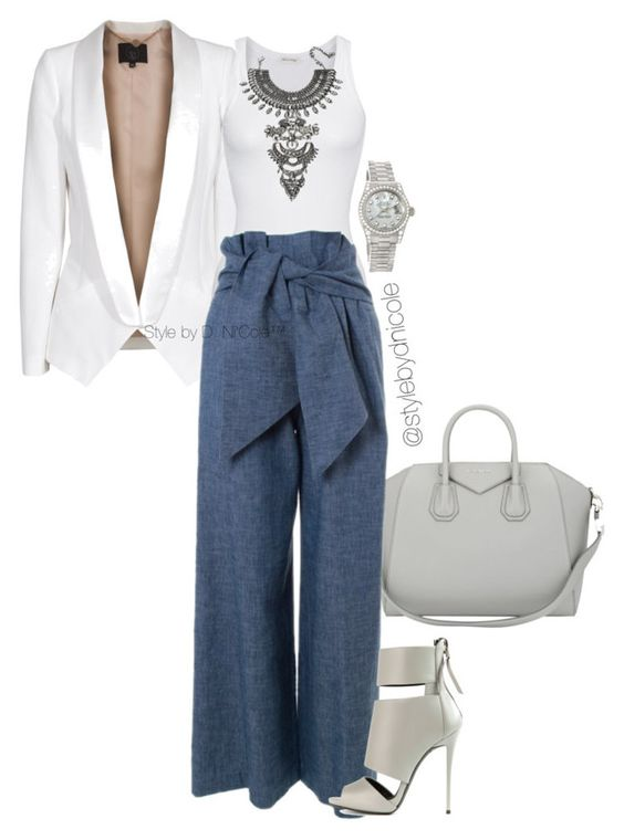 """""""Untitled #3174"""" by stylebydnicole ❤ liked on Polyvore featuring SLY 010, American Vintage, Givenchy, MSGM, DYLANLEX, Giuseppe Zanotti, Rolex, women's clothing, women and female"""
