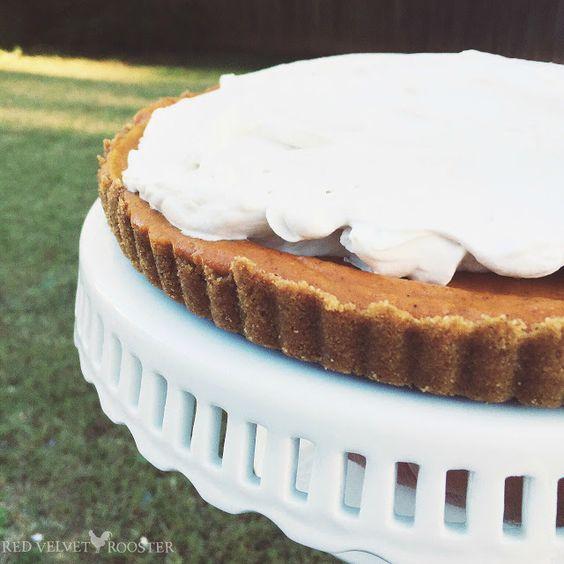 Bourbon-Vanilla Pumpkin Tart: