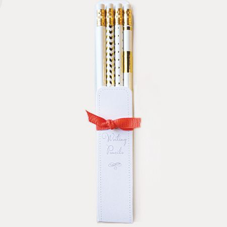White Gold Pencil Set