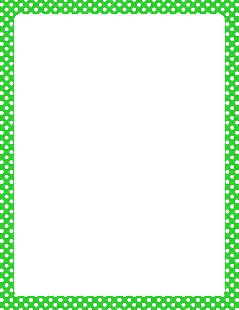 Pictures of Green Polka Dot Border Clip Art - #rock-cafe